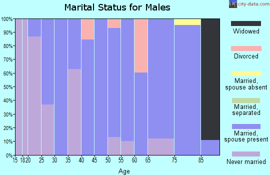 Zip code 77362 marital status for males
