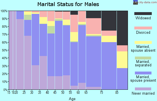Zip code 77414 marital status for males