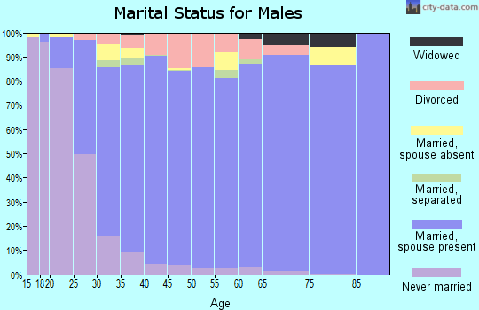 Zip code 77429 marital status for males