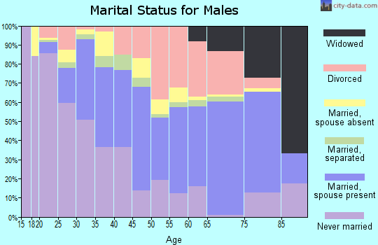 Zip code 77640 marital status for males