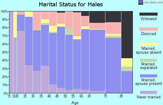 Zip code 77656 marital status for males