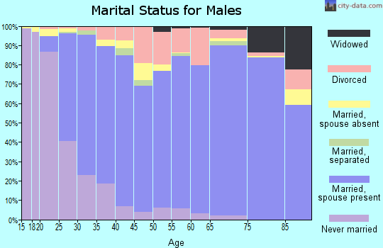 Zip code 78154 marital status for males