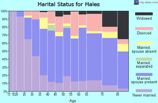 Zip code 78209 marital status for males