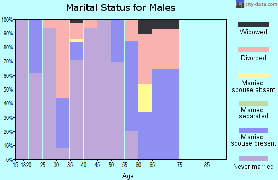 Zip code 78215 marital status for males