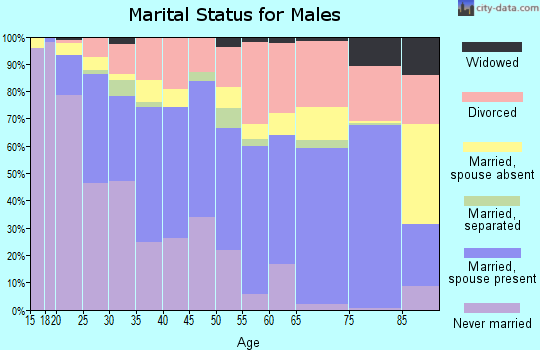 Zip code 78218 marital status for males