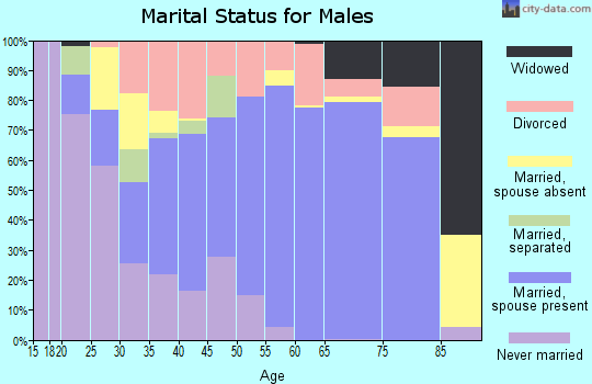 Zip code 78224 marital status for males