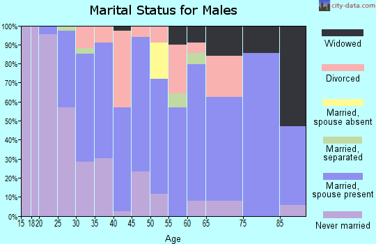 Zip code 79103 marital status for males