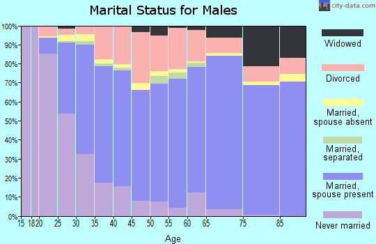 Zip code 79109 marital status for males