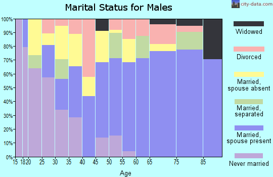 Zip code 79521 marital status for males