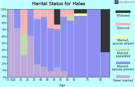 Zip code 79546 marital status for males