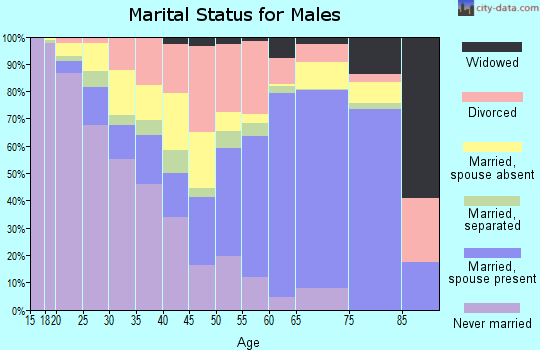 Zip code 79601 marital status for males