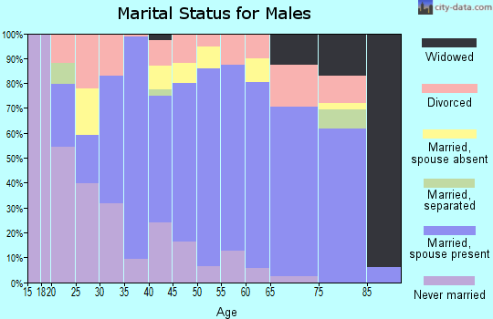 Zip code 79714 marital status for males
