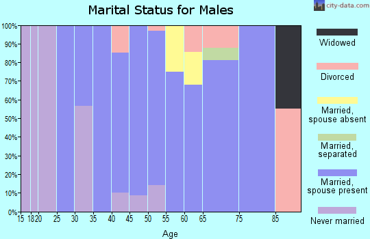 Zip code 79734 marital status for males