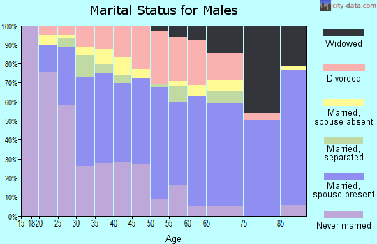 Zip code 79761 marital status for males