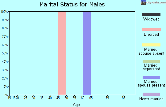 Zip code 79846 marital status for males