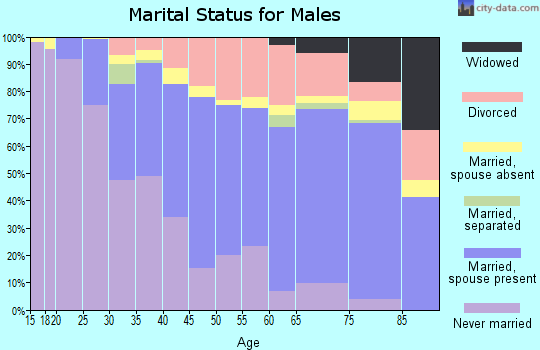 Zip code 80014 marital status for males