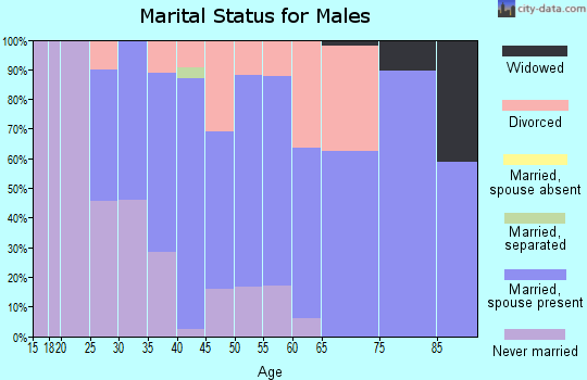 Zip code 80230 marital status for males