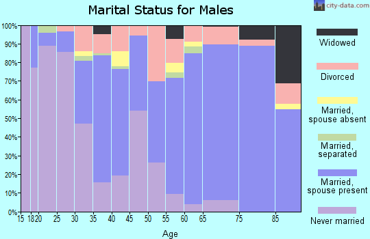 Zip code 80237 marital status for males
