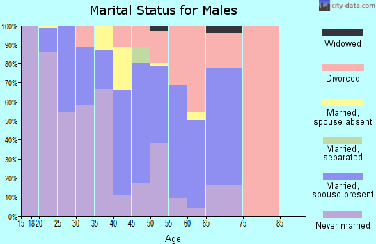 Zip code 80440 marital status for males