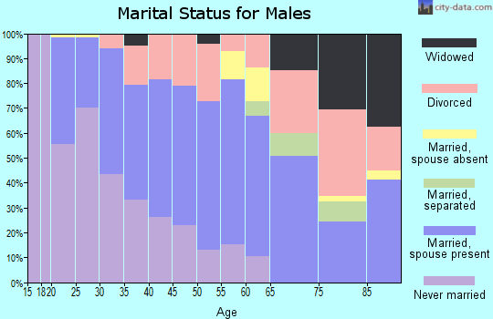 Zip code 80723 marital status for males