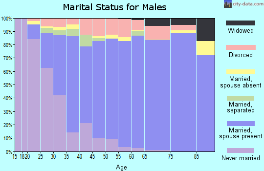 Zip code 80918 marital status for males