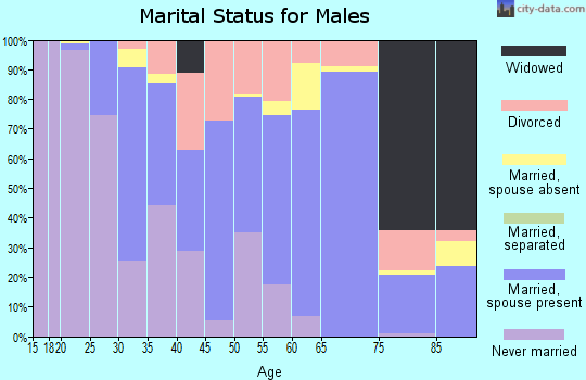 Zip code 81230 marital status for males