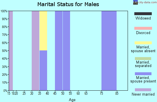 Zip code 81251 marital status for males