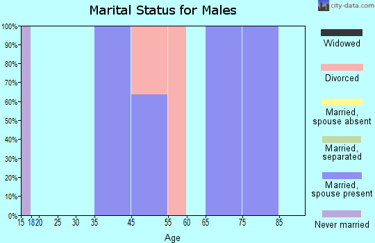 Zip code 82310 marital status for males