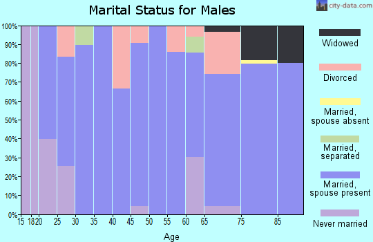 Zip code 82431 marital status for males