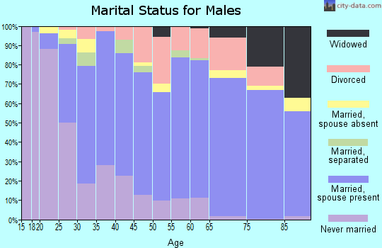 Zip code 82801 marital status for males