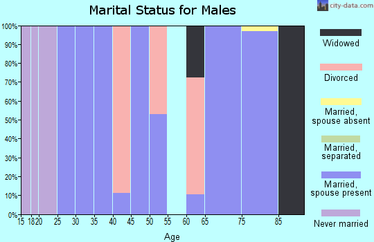 Zip code 84028 marital status for males