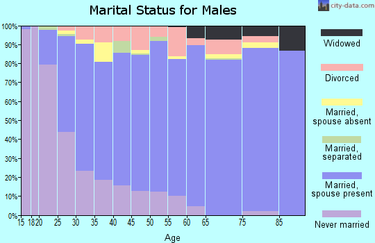 Zip code 84058 marital status for males
