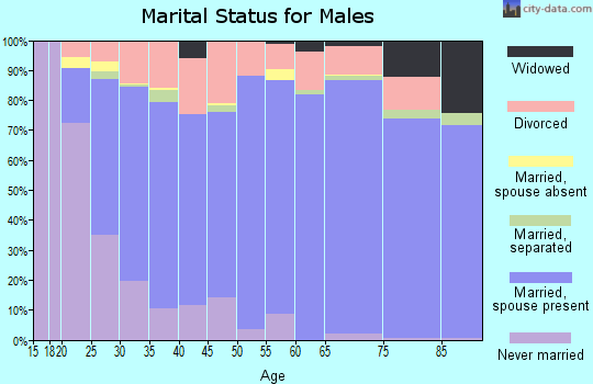 Zip code 84067 marital status for males