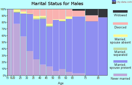 Zip code 84121 marital status for males