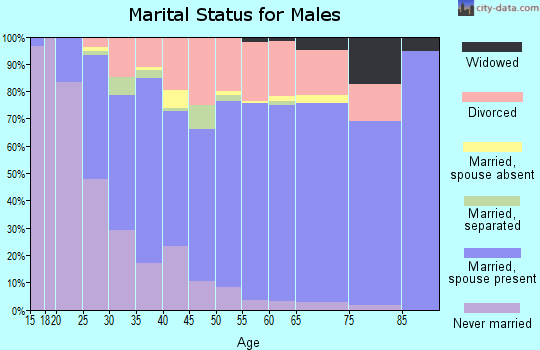 Zip code 84123 marital status for males