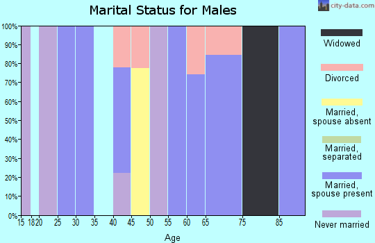 Zip code 84722 marital status for males