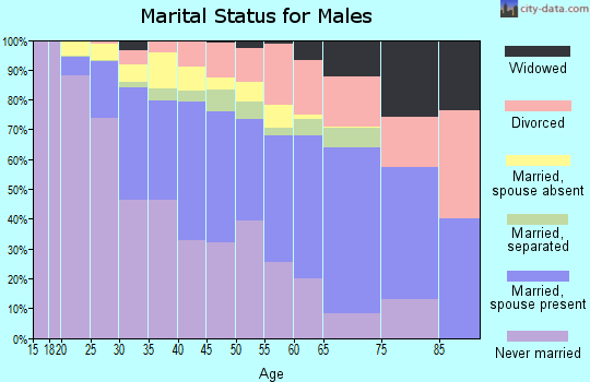 Zip code 85009 marital status for males