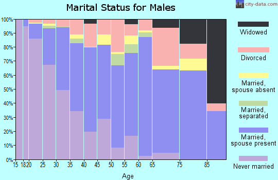 Zip code 85023 marital status for males