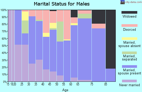 Zip code 86426 marital status for males
