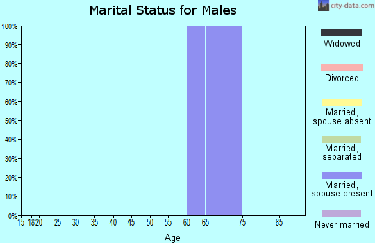 Zip code 87011 marital status for males