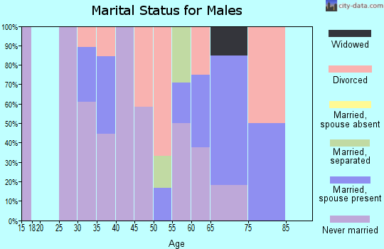 Zip code 87022 marital status for males