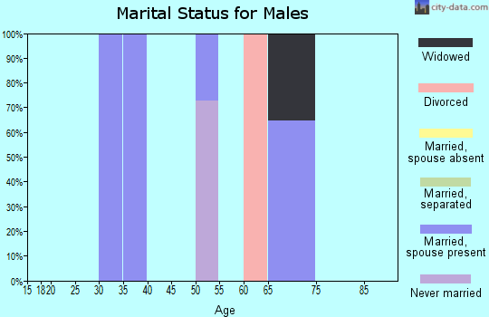 Zip code 87580 marital status for males