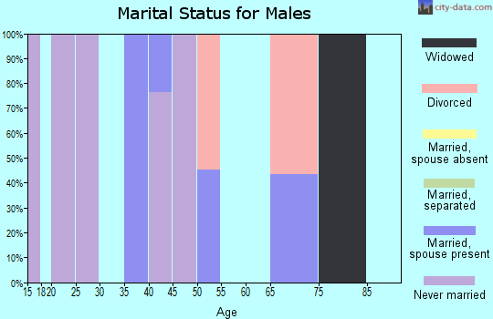 Zip code 87732 marital status for males