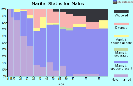 Zip code 88130 marital status for males