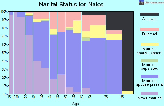 Zip code 89148 marital status for males