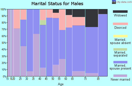 Zip code 89705 marital status for males