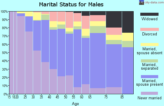 Zip code 90810 marital status for males