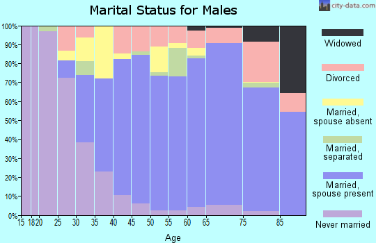 Zip code 91902 marital status for males
