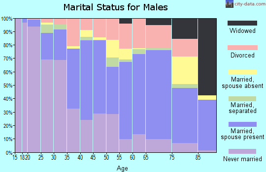 Zip code 91945 marital status for males