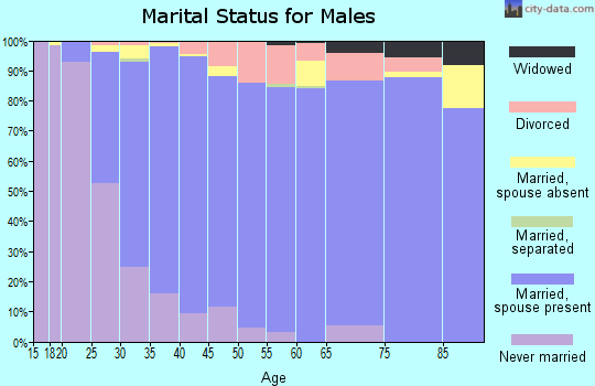 Zip code 92131 marital status for males